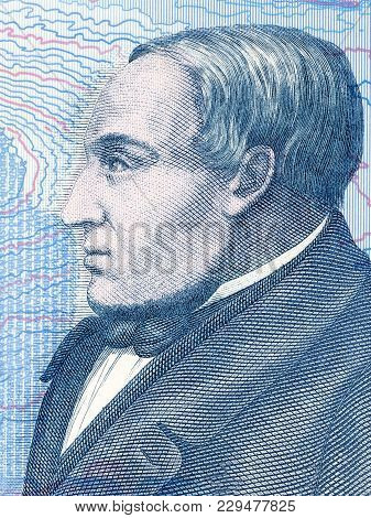 Jonas Hallgrimsson Portrait From Icelandic Money - Krone