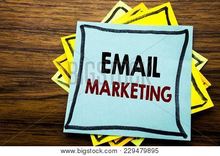 Hand Writing Text Caption Inspiration Showing Email Marketing. Business Concept For Online Web Promo