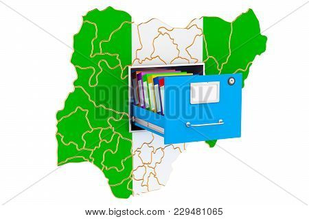 Nigerian National Database Concept, 3d Rendering Isolated On White Background