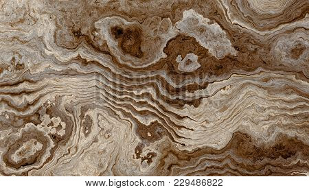 Texture Of Roots Of Tree With Wavy Lines And Age Rings. Abstract Background. 2d Illustration