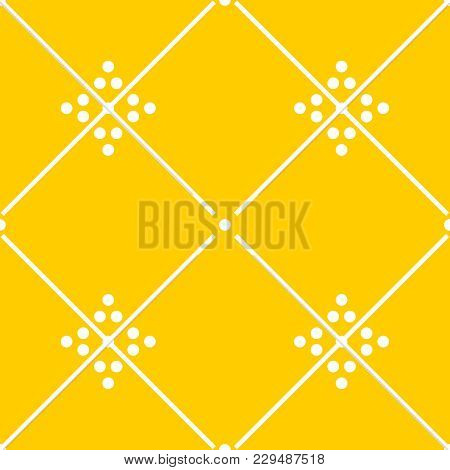 Tile Yellow Decorative Floor Tiles Vector Pattern