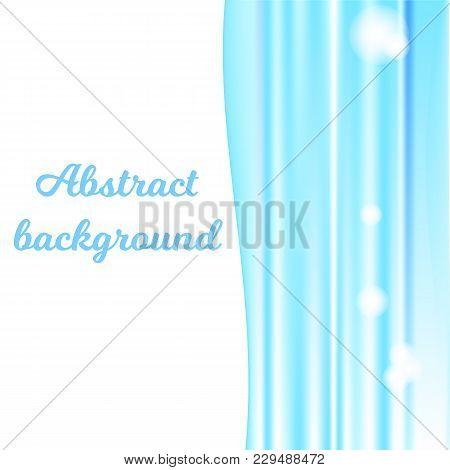 The Blue Abstract Wavy Background Horizontally Mash