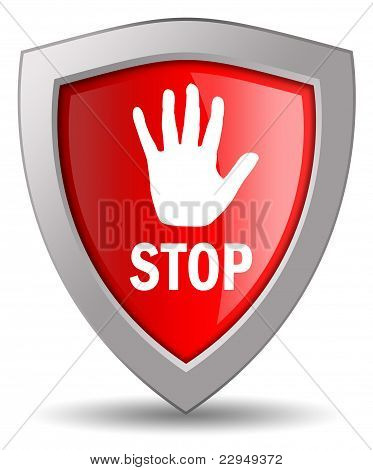 Stop shield icon