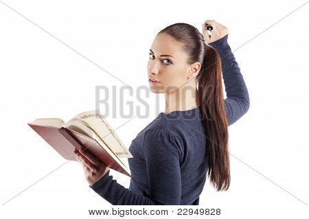 Nice Girl With Book