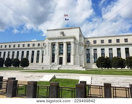 Federal Reserve Building In Washington Dc, United States Of America