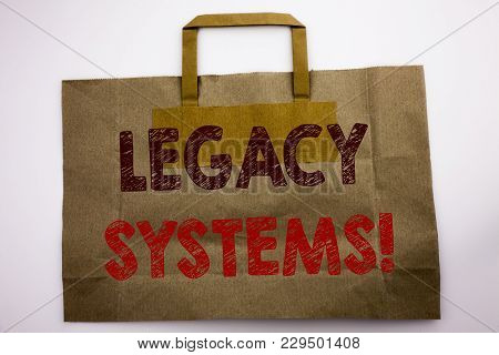 Word, Writing Legacy Systems. Business Concept For Upgrade Soa Application Written Shopping Bag, Whi