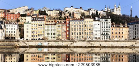 View Of Lyon And Saone River In Spring