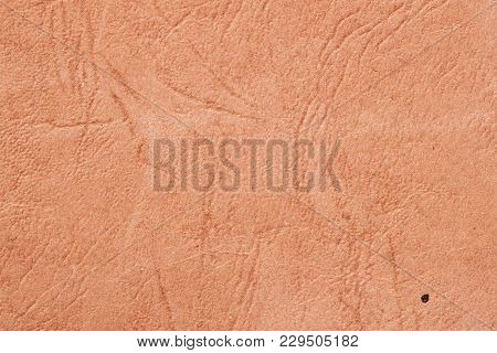 Texture Of Old Brown Paper With Wrinkles, Background For Design With Copy Space Text Or Image. Recyc
