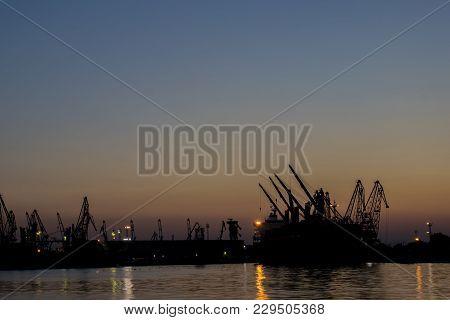 Minutеs After Sunset At Sea Station Varna