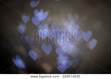 Background Bokeh Of Sparkling Defocused Party Lights Twinkling In The Darkness Conceptual Of A Celeb