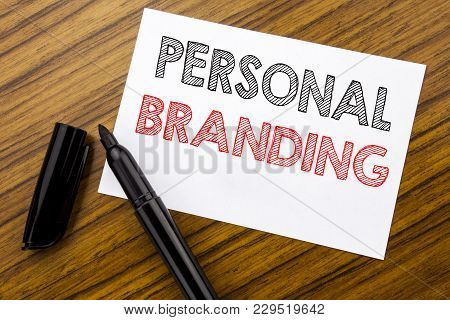 Writing Text Showing Personal Branding. Business Concept For Brand Building Written On Sticky Note P