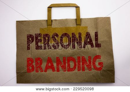 Word, Writing Personal Branding. Business Concept For Brand Building Written Shopping Bag, White Iso
