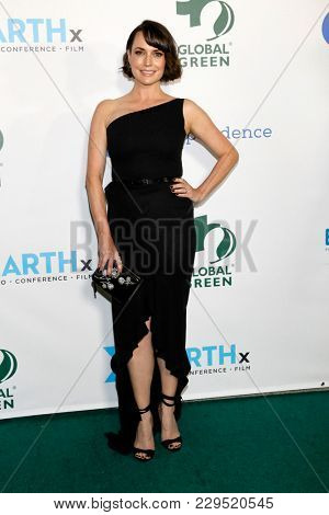 LOS ANGELES - FEB 28:  Julie Ann Emery at the 15th Annual Global Green Pre-Oscar Gala at the NeueHouse on February 28, 2018 in Los Angeles, CA