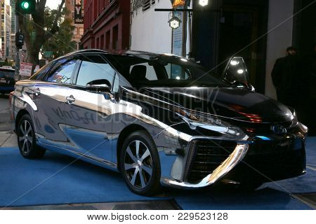 LOS ANGELES - MAR 1:  Toyota Mirai - Hydrogen Fueled at the