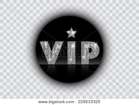 Platinum Symbol Of Exclusivity, The Label Vip With Glitter. Very Important Person - Vip Icon Vector