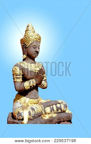 The Gods Of The Gods, Who Worshiped The Buddha, Who Is Doing Great Merit.