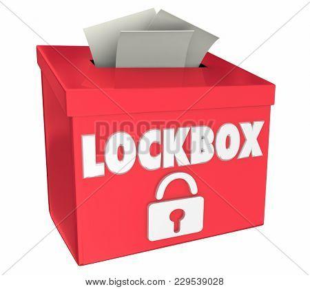 Lockbox Security Protect Secure Deposit 3d Illustration