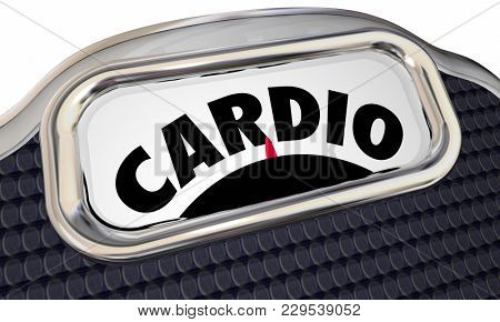 Cardio Exercise Lose Weight Scale Fitness Plan 3d Illustration
