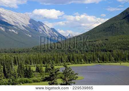 Vermillion Lakes Viewpoint At Banff Alberta Canada