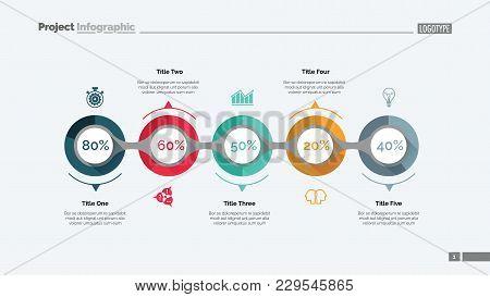 Marketing Strategy Slide Template. Business Data. Graph, Diagram, Design. Creative Concept For Infog