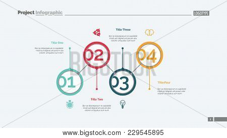 Marketing Strategy Steps Slide Template. Business Data. Graph, Diagram. Creative Concept For Infogra