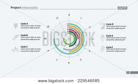Six Cycles In Circle Diagram Template. Business Data. Graph, Chart, Design. Creative Concept For Inf