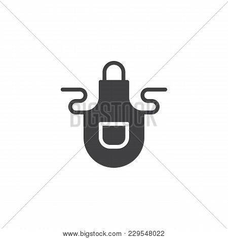 Apron Vector Icon. Filled Flat Sign For Mobile Concept And Web Design. Pinafore Simple Solid Icon. S
