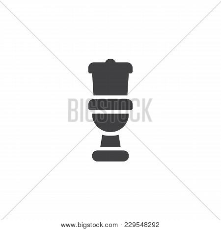 Toilet Vector Icon. Filled Flat Sign For Mobile Concept And Web Design. Water Closet Pan Simple Soli