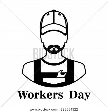 May 1 - Labor Day Logo For Poster, Banner, Brochure . May 1-labor Day On A White Background With A B