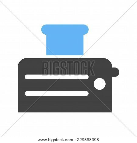 Toaster, Toast, Breakfast Icon Vector Image. Can Also Be Used For Household Objects. Suitable For Us