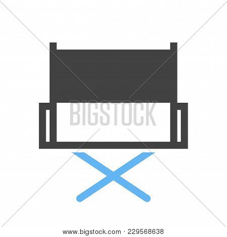 Directors Chair, Chair, Film Making Icon Vector Image. Can Also Be Used For Multimedia. Suitable For