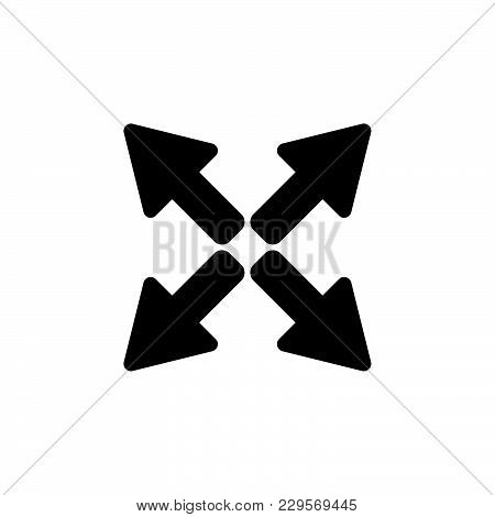 Arrows Icon. Vector Illustration Black On White Background