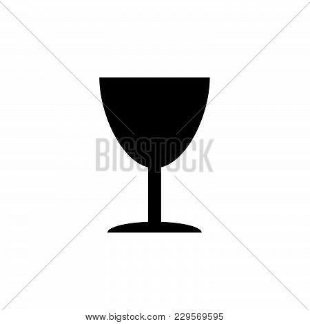 Icon Of Fragile Symbol (sign) Black On White Background