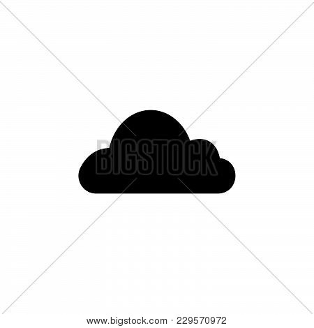 Cloud Icon. Vector Illustration Black On White Background