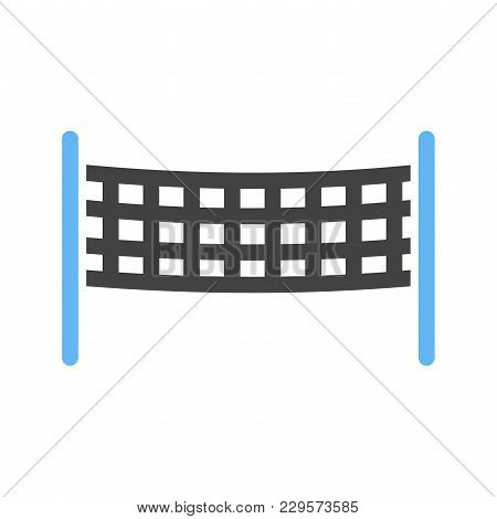 Volleyball, Game, Net Icon Vector Image.can Also Be Used For Summer, Recreation And Fun. Suitable Fo