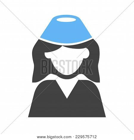 Hostess, Flight, Crew Icon Vector Image. Can Also Be Used For Professionals. Suitable For Web Apps,