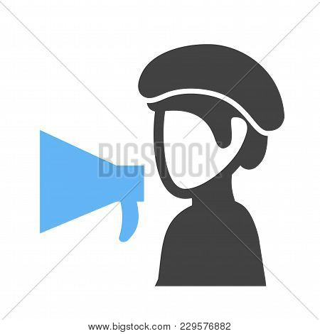 Director, Video, Production Icon Vector Image. Can Also Be Used For Professionals. Suitable For Web