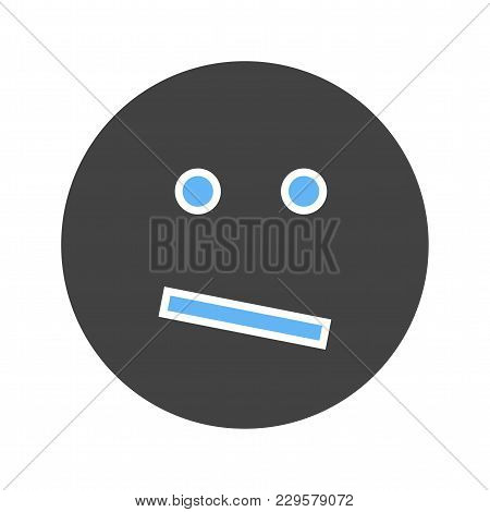 Confused, Business, Confusion Icon Vector Image. Can Also Be Used For Emotions And Smileys. Suitable