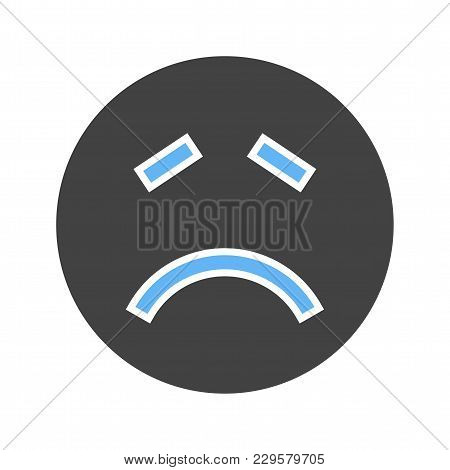 Sick, Ill, Health Icon Vector Image. Can Also Be Used For Emotions And Smileys. Suitable For Mobile