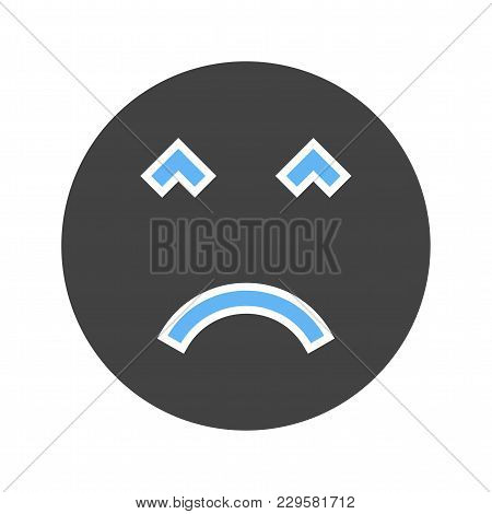 Face, Anger, Emotions Icon Vector Image. Can Also Be Used For Emotions And Smileys. Suitable For Mob