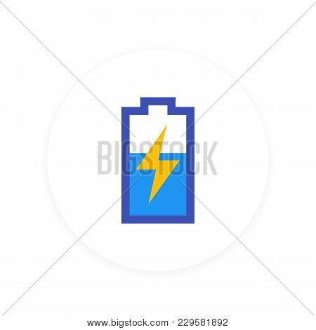 Charging Battery Icon, Eps 10 File, Easy To Edit