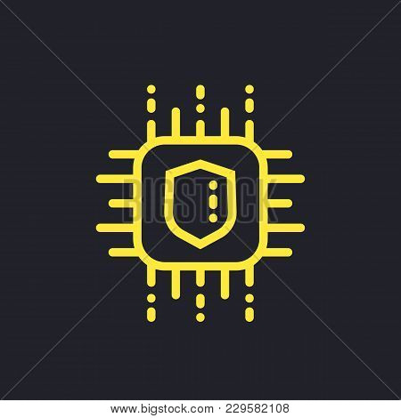 Cryptography Vector Icon, Linear Style, Eps 10 File, Easy To Edit