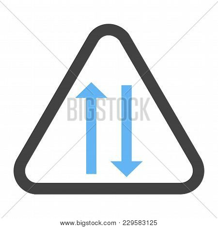 Way, Sign, Highway Icon Vector Image. Can Also Be Used For Traffic Signs. Suitable For Web Apps, Mob