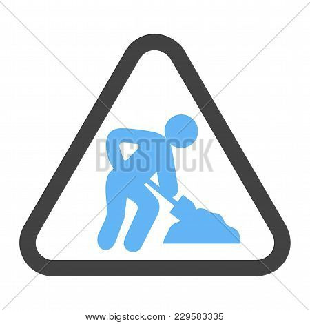 Construction, Under, Sign Icon Vector Image. Can Also Be Used For Traffic Signs. Suitable For Web Ap