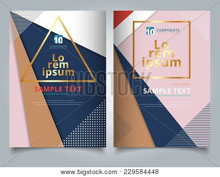 Abstract Geometric Triangles With Circles And Lines Pattern Multicolor For Tempalte Brochure, Poster