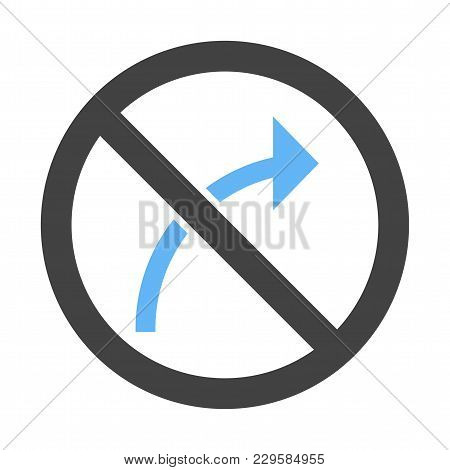 Sign, Right, Traffic Icon Vector Image. Can Also Be Used For Traffic Signs. Suitable For Web Apps, M