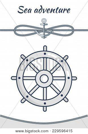 Sea Adventure, Vector Cordage Ropes Collection, Illustration With Spiral Cordages Isolated On White
