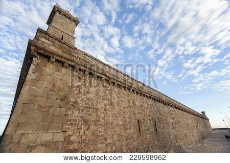 Castle Of Montjuic, On Top Of Park Montjuic, Barcelona.
