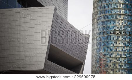 Barcelona,spain-september 12,2014: Modern Architecture, Contemporary Style, Agbar Tower And Disseny