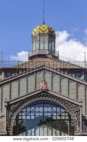 Barcelona,spain-november 5,2013:exterior, Entrance Of El Born Cultural And Memorial Center, Cultural